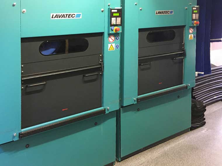 Maschine der Spezial-Wäscherei Güthler